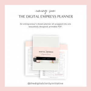 The Digital Empress Productivity Planner by The Digital Clarity Initiative